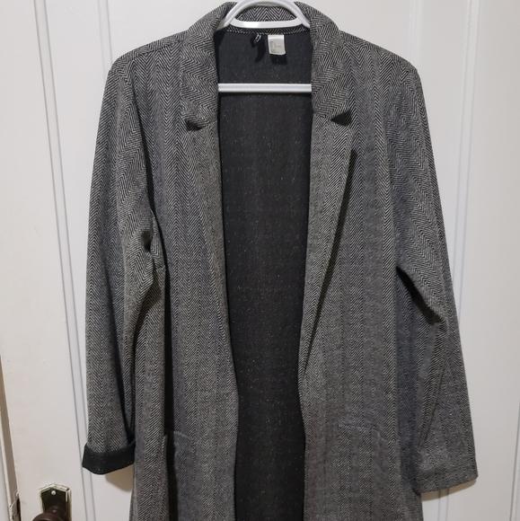H&M chevron stretch blazer